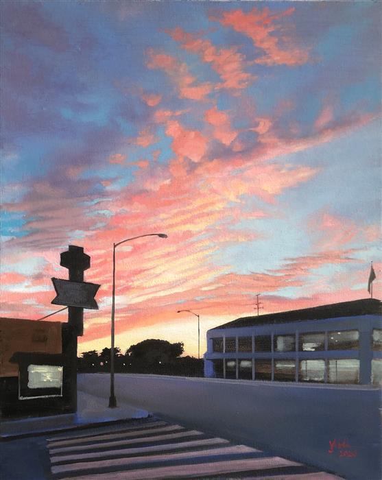Original art for sale at UGallery.com | Herringbone by Jesse Aldana | $725 | oil painting | 20' h x 16' w | ..\art\oil-painting-Herringbone