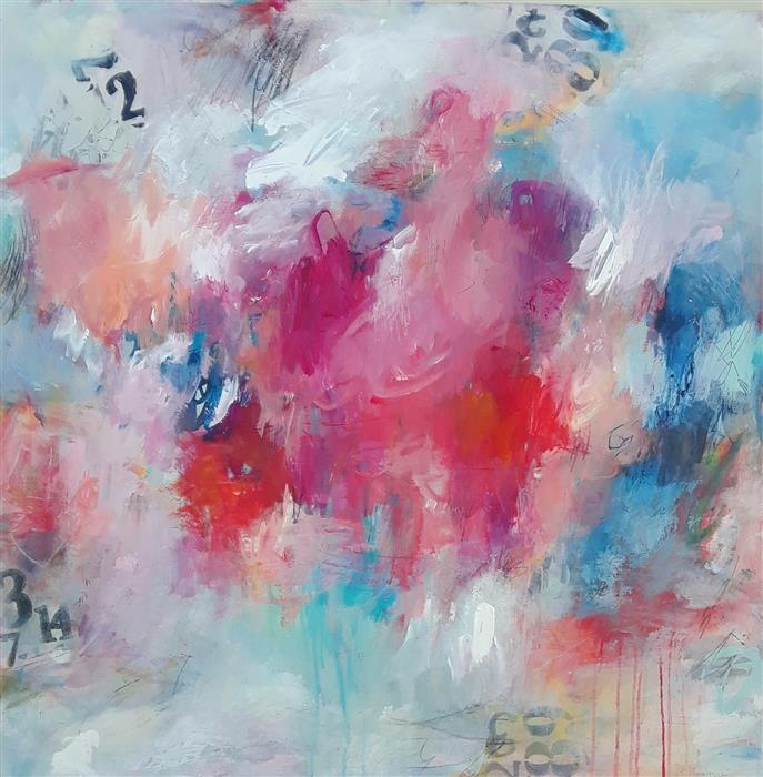 Original art for sale at UGallery.com | Sitting on a Cloud by Hilma Koelman | $2,800 | acrylic painting | 36' h x 36' w | ..\art\acrylic-painting-Sitting-on-a-Cloud