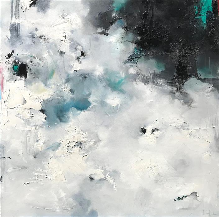 Original art for sale at UGallery.com | Scattered Floes by Nicholas Kriefall | $2,800 | oil painting | 36' h x 36' w | ..\art\oil-painting-Scattered-Floes