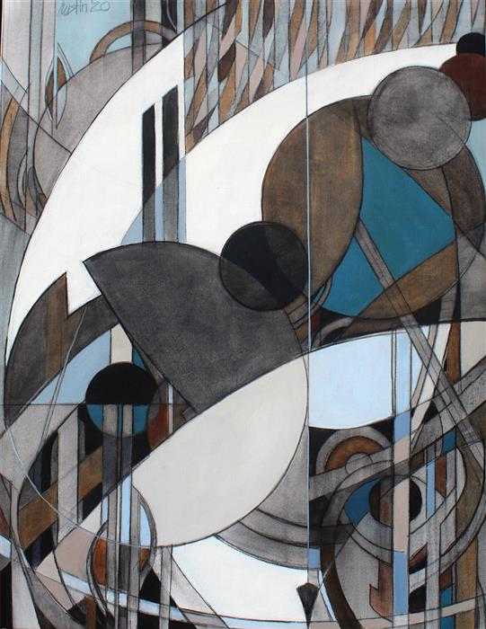 Original art for sale at UGallery.com | Oculus #8 by Stephen Austin | $2,200 | oil painting | 36' h x 28' w | ..\art\oil-painting-Oculus-8