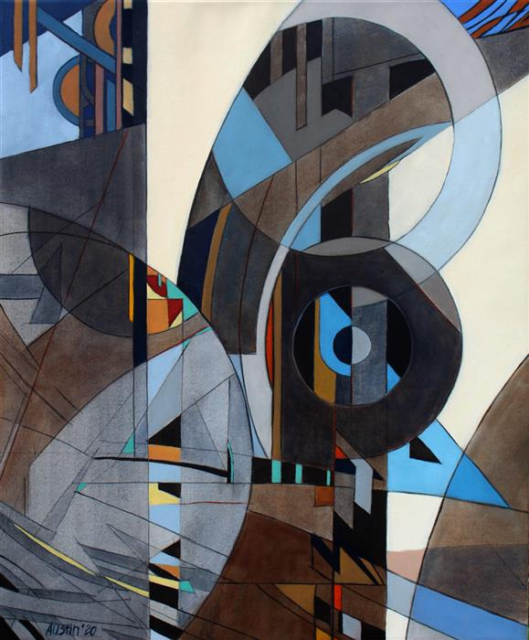 Original art for sale at UGallery.com | Oculus #13 by Stephen Austin | $2,350 | oil painting | 36' h x 30' w | ..\art\oil-painting-Oculus-13
