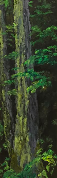 Original art for sale at UGallery.com | Sequoia by Mandy Main | $1,000 | oil painting | 36' h x 12' w | ..\art\oil-painting-Sequoia
