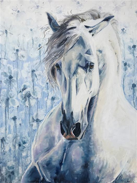 Original art for sale at UGallery.com | Brave One by Alana Clumeck | $2,500 | oil painting | 48' h x 36' w | ..\art\oil-painting-Brave-One