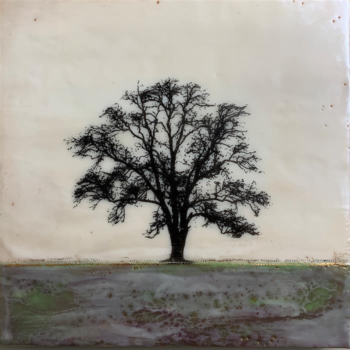 Original art for sale at UGallery.com | Green Mists by Shari Lyon | $650 | encaustic artwork | 12' h x 12' w | ..\art\encaustic-artwork-Green-Mists
