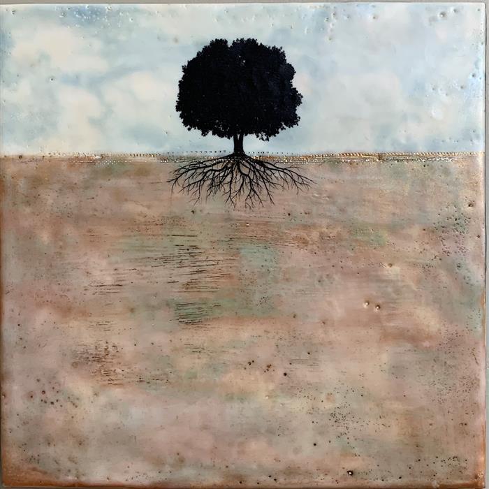 Original art for sale at UGallery.com | Solitary by Shari Lyon | $525 | encaustic artwork | 10' h x 10' w | ..\art\encaustic-artwork-Solitary