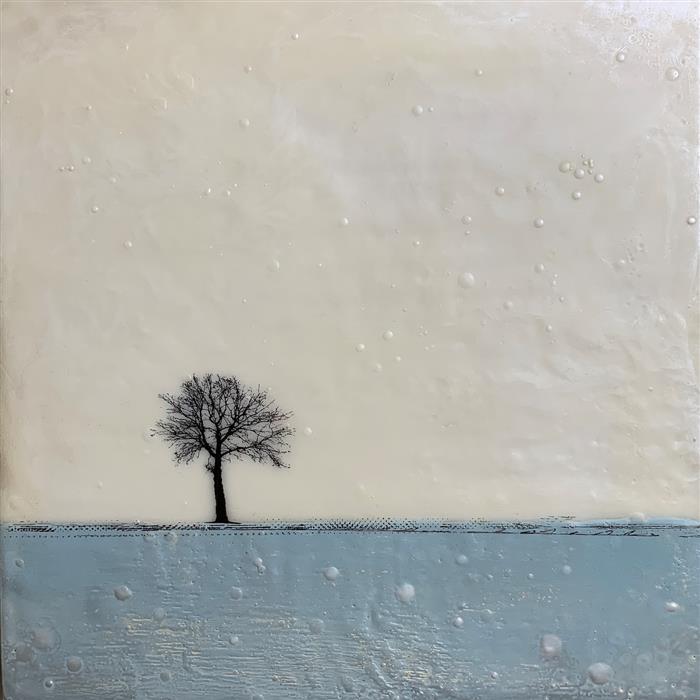 Original art for sale at UGallery.com | Inverno Grigio Sei by Shari Lyon | $650 | encaustic artwork | 12' h x 12' w | ..\art\encaustic-artwork-Inverno-Grigio-Sei