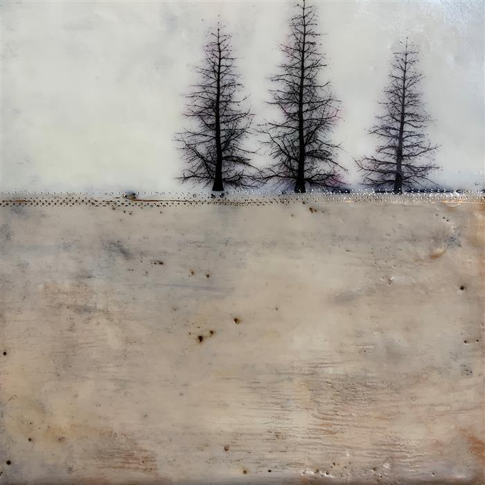 Original art for sale at UGallery.com | Fine Inverno Tre by Shari Lyon | $375 | encaustic artwork | 8' h x 8' w | ..\art\encaustic-artwork-Fine-Inverno-Tre