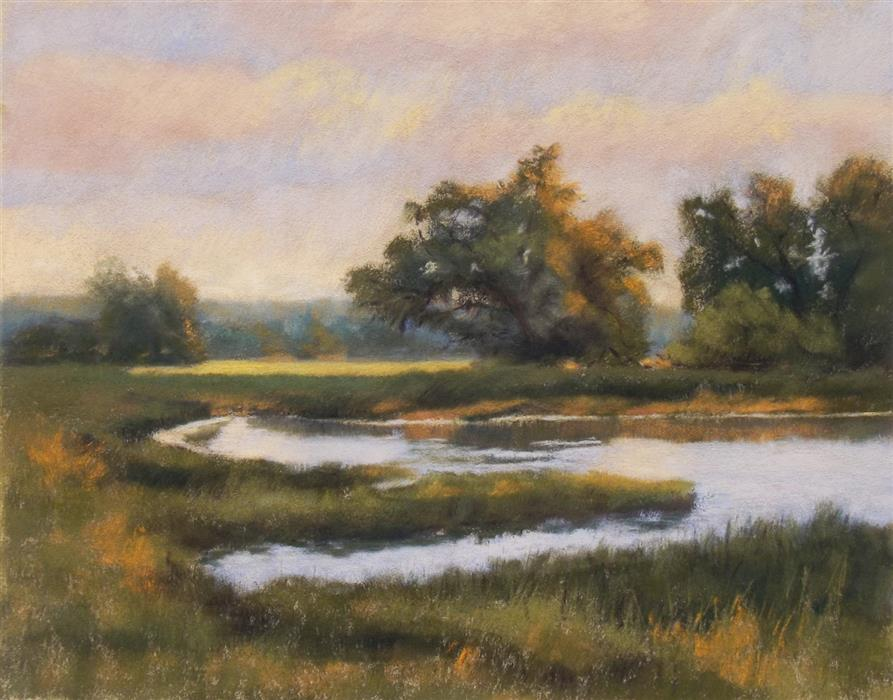 Original art for sale at UGallery.com | A Fresh Start by Patricia Prendergast | $475 | pastel artwork | 11' h x 14' w | ..\art\pastel-artwork-A-Fresh-Start