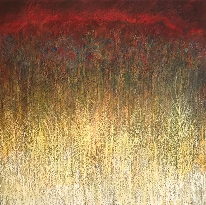 Original art for sale at UGallery.com | Wildfire by Doug Lawler | $3,700 | pastel artwork | 30' h x 30' w | ..\art\pastel-artwork-Wildfire