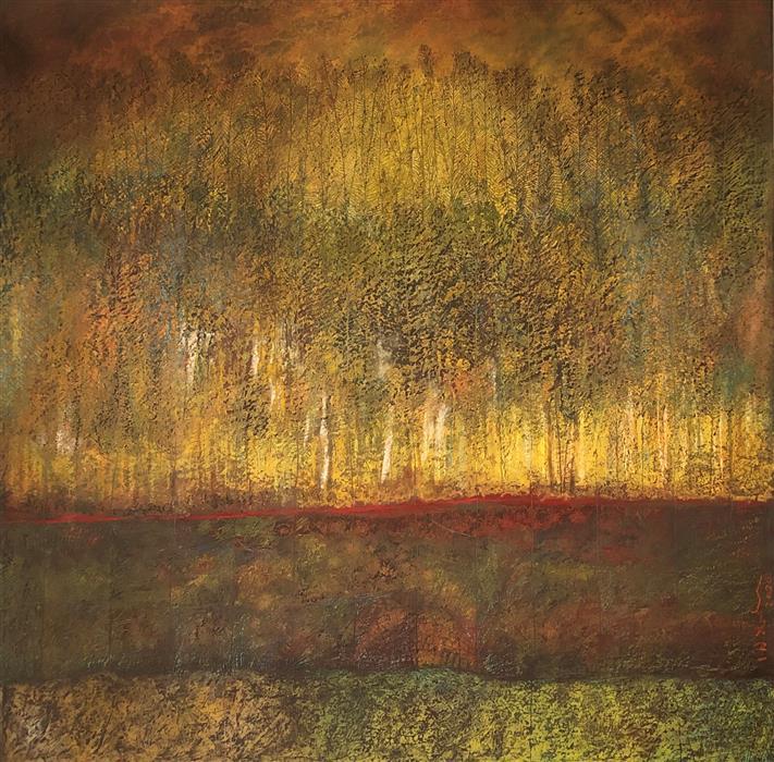 Original art for sale at UGallery.com | Moonset by Doug Lawler | $3,700 | pastel artwork | 30' h x 30' w | ..\art\pastel-artwork-Moonset