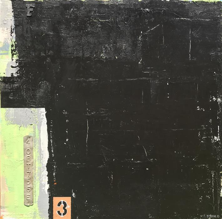 Original art for sale at UGallery.com | Machine Shop by Joey Korom | $1,200 | mixed media artwork | 30' h x 30' w | ..\art\mixed-media-artwork-Machine-Shop