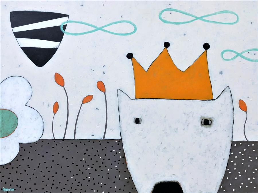 Original art for sale at UGallery.com | King by Jaime Ellsworth | $4,800 | acrylic painting | 36' h x 48' w | ..\art\acrylic-painting-King-68871
