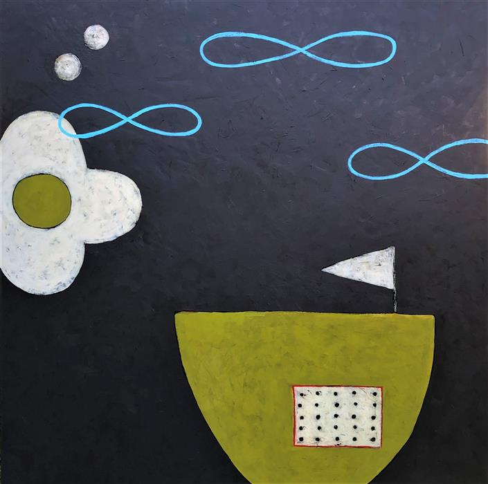 Original art for sale at UGallery.com | Flotilla by Jaime Ellsworth | $3,800 | acrylic painting | 36' h x 36' w | ..\art\acrylic-painting-Flotilla