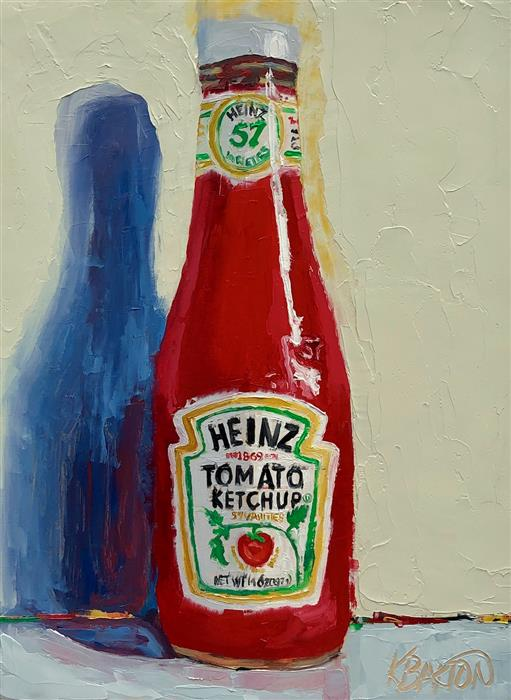 Original art for sale at UGallery.com | Ketchup Please by Karen Barton | $375 | oil painting | 8' h x 6' w | ..\art\oil-painting-Ketchup-Please