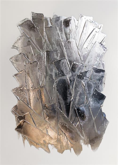 Original art for sale at UGallery.com | Glacier I by M. Clark | $1,975 | mixed media artwork | 25' h x 18' w | ..\art\mixed-media-artwork-Glacier-I