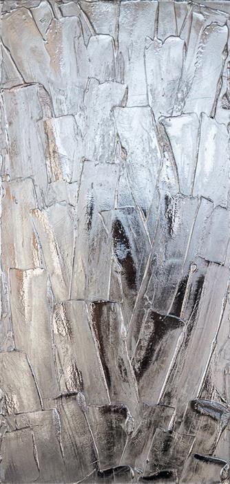 Original art for sale at UGallery.com | Glacier II by M. Clark | $1,375 | mixed media artwork | 25' h x 12' w | ..\art\mixed-media-artwork-Glacier-II