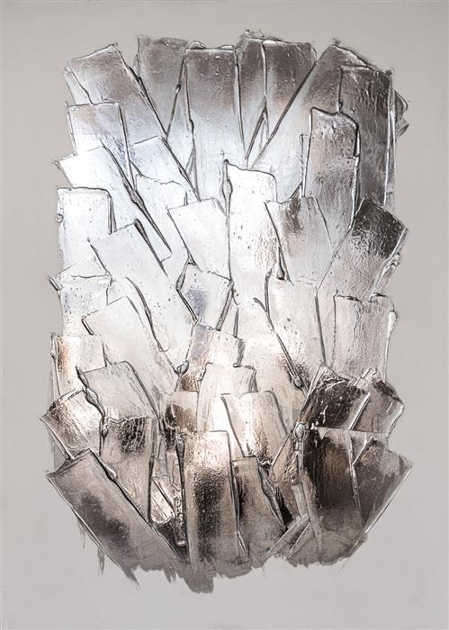 Original art for sale at UGallery.com | Glacier III by M. Clark | $1,975 | mixed media artwork | 25' h x 18' w | ..\art\mixed-media-artwork-Glacier-III