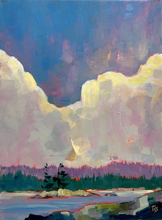 Original art for sale at UGallery.com | Big Sky by Teresa Smith | $525 | oil painting | 12' h x 9' w | ..\art\oil-painting-Big-Sky-68989