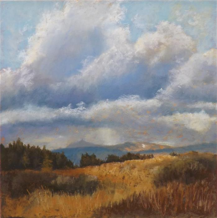 Original art for sale at UGallery.com | High Country Summer by Patricia Prendergast | $475 | pastel artwork | 12' h x 12' w | ..\art\pastel-artwork-High-Country-Summer