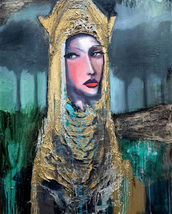 Original art for sale at UGallery.com | Holiness by Scott Dykema | $7,000 | mixed media artwork | 60' h x 48' w | ..\art\mixed-media-artwork-Holiness