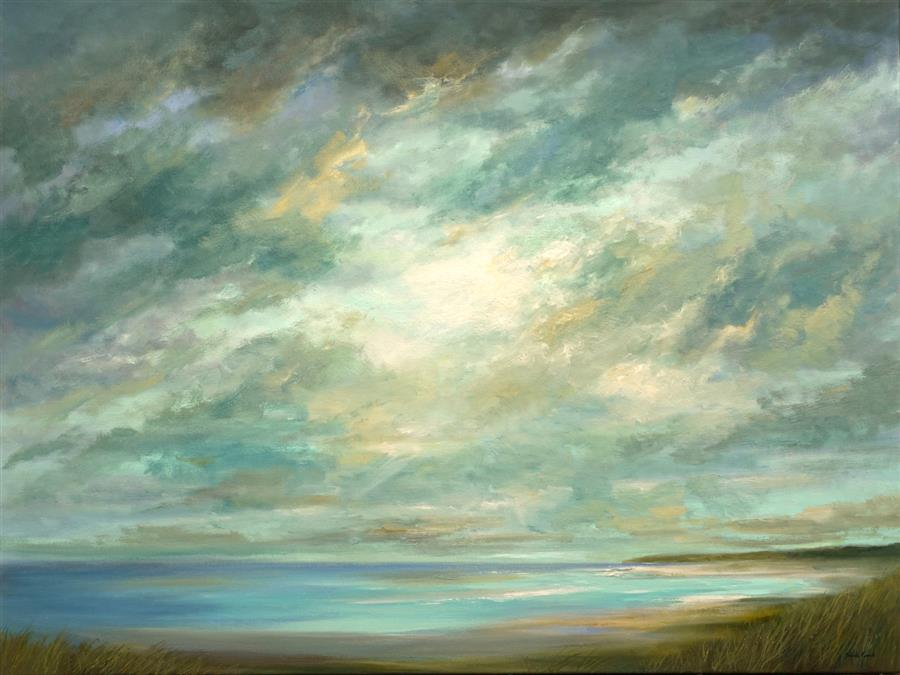 Original art for sale at UGallery.com | Where the Winds Lead by Sheila Finch | $4,200 | oil painting | 36' h x 48' w | ..\art\oil-painting-Where-the-Winds-Lead