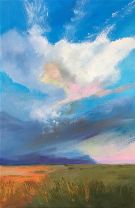 Original art for sale at UGallery.com | Breathless Sky by Nancy Merkle | $1,600 | acrylic painting | 36' h x 24' w | ..\art\acrylic-painting-Breathless-Sky