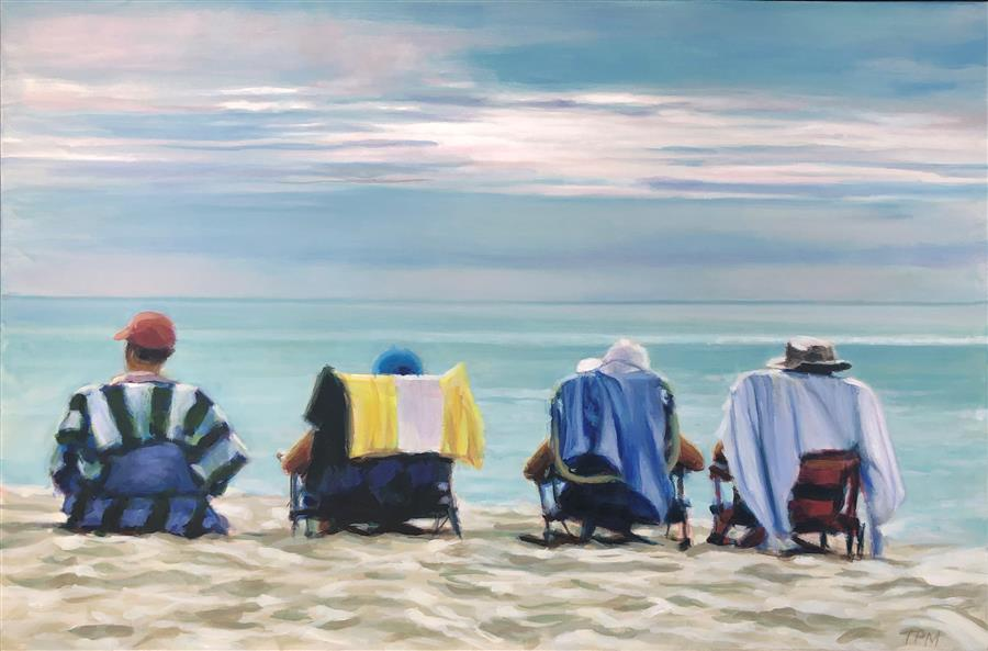 Original art for sale at UGallery.com | Waiting for the Show by Tom Manziano | $1,950 | acrylic painting | 24' h x 36' w | ..\art\acrylic-painting-Waiting-for-the-Show-69071