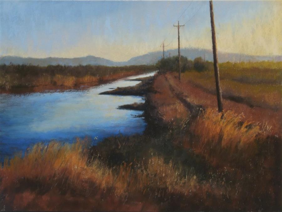 Original art for sale at UGallery.com | Long Distance by Patricia Prendergast | $575 | pastel artwork | 12' h x 16' w | ..\art\pastel-artwork-Long-Distance