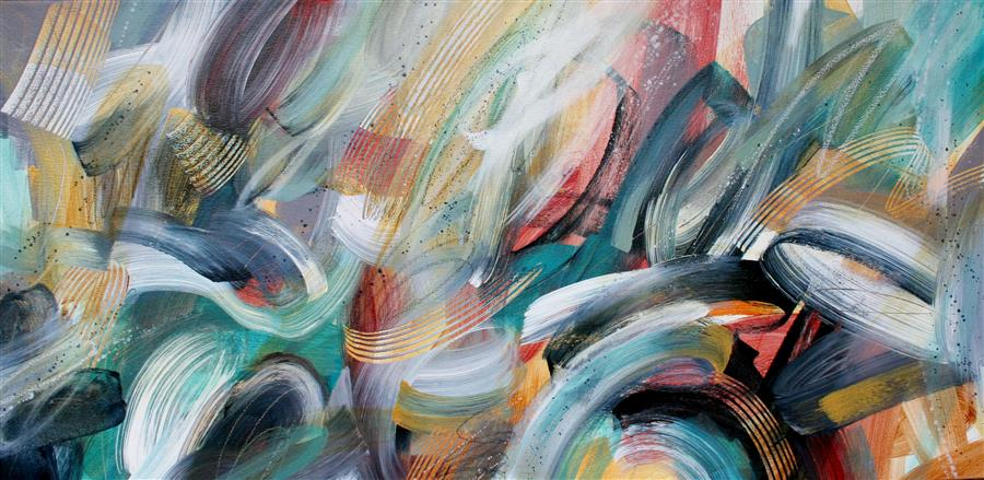 Original art for sale at UGallery.com | Jaxawomp by Courtney Jacobs | $2,200 | acrylic painting | 24' h x 48' w | ..\art\acrylic-painting-Jaxawomp