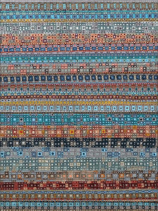 Original art for sale at UGallery.com | What We Weave by Terri Bell | $950 | mixed media artwork | 24' h x 18' w | ..\art\mixed-media-artwork-What-We-Weave