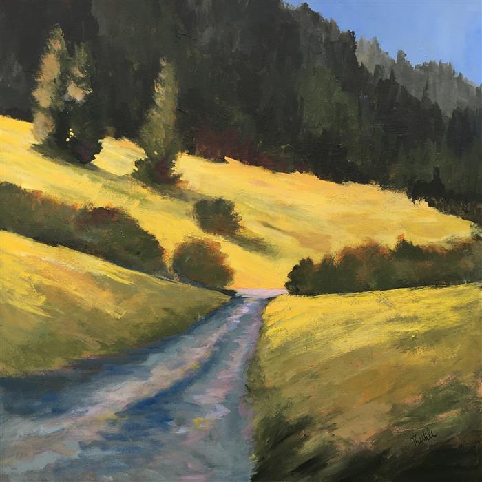 Original art for sale at UGallery.com | Oregon Trail by Nancy Merkle | $1,400 | acrylic painting | 30' h x 30' w | ..\art\acrylic-painting-Oregon-Trail
