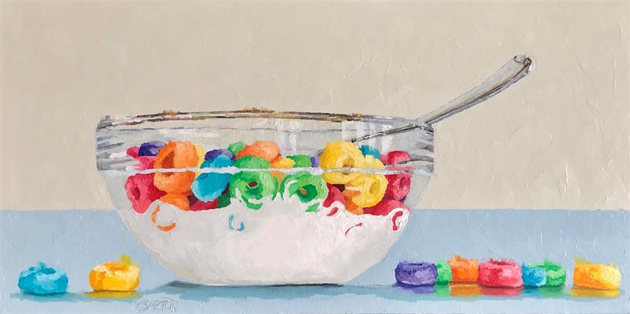 Original art for sale at UGallery.com | A Good Good Breakfast by Karen Barton | $1,625 | oil painting | 18' h x 36' w | ..\art\oil-painting-A-Good-Good-Breakfast