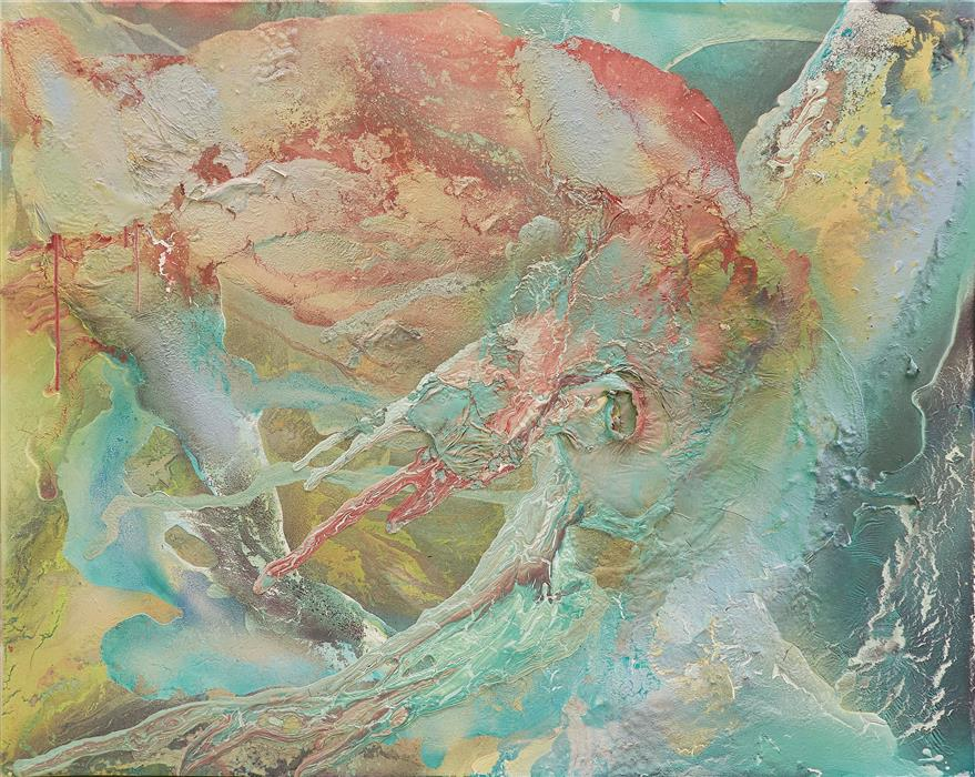 Original art for sale at UGallery.com | Raices by Fernando Bosch | $2,850 | mixed media artwork | 31.8' h x 39.3' w | ..\art\mixed-media-artwork-Raices