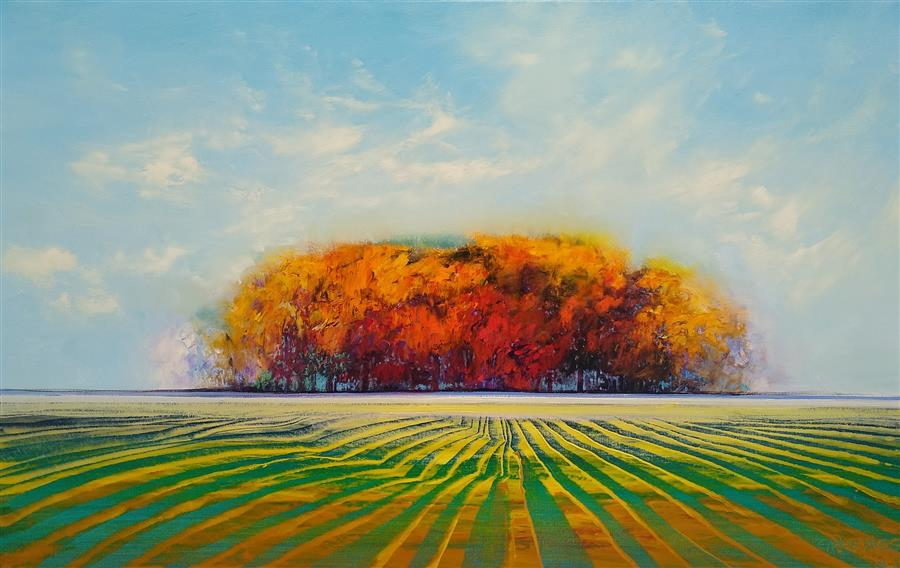 Original art for sale at UGallery.com | Summer's Glory by George Peebles | $3,750 | oil painting | 30' h x 48' w | ..\art\oil-painting-Summer-s-Glory