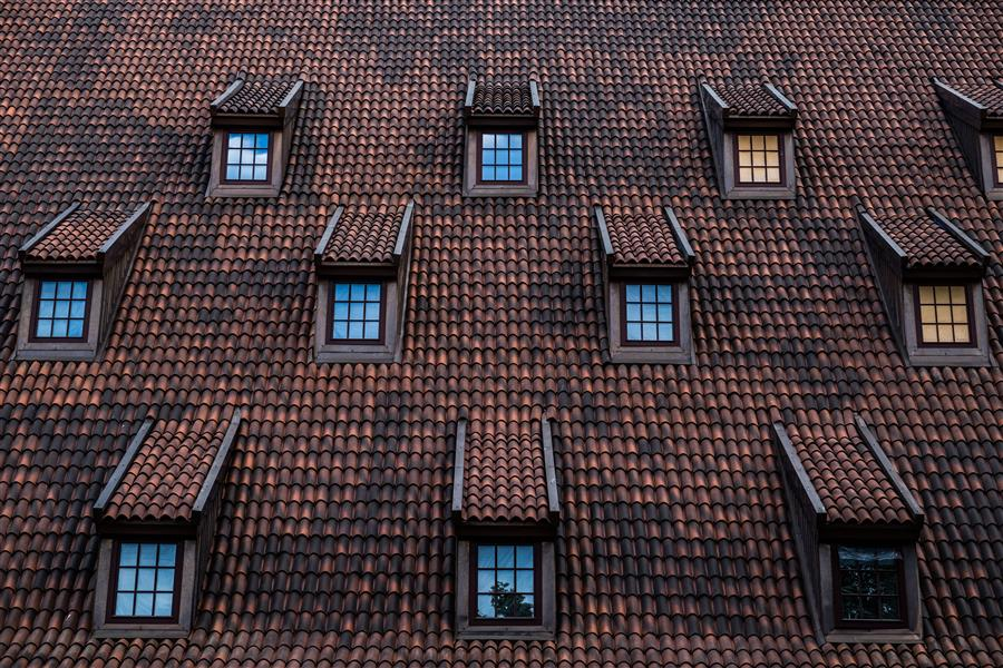 Original art for sale at UGallery.com | Rooftop Windows by Alicja Brodowicz | $150 | photography | 15' h x 10' w | ..\art\photography-Rooftop-Windows