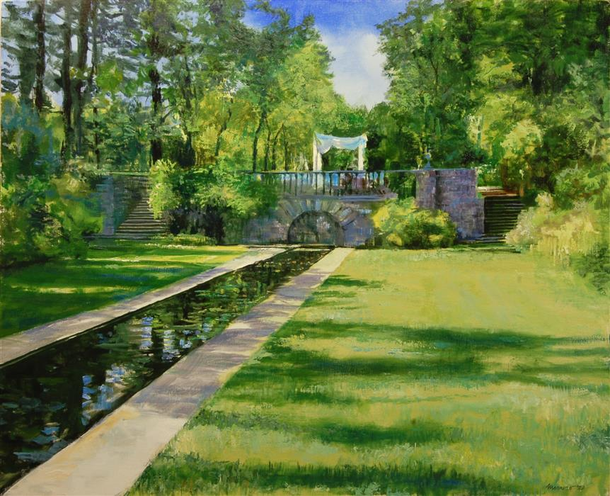 Original art for sale at UGallery.com | The Lower Grounds at Skylands by Onelio Marrero | $1,975 | oil painting | 24' h x 30' w | ..\art\oil-painting-The-Lower-Grounds-at-Skylands