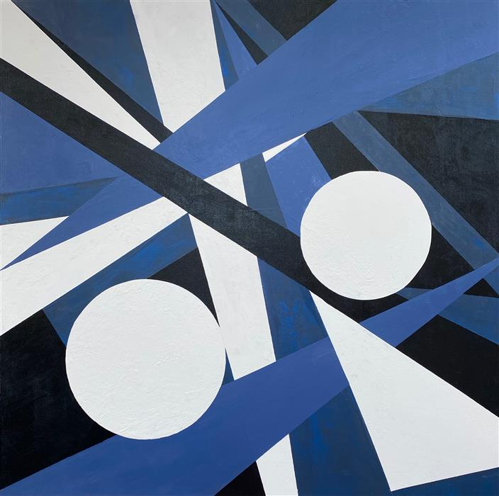 Original art for sale at UGallery.com | Dynamic Interaction II by Alicia Dunn | $2,600 | acrylic painting | 48' h x 48' w | ..\art\acrylic-painting-Dynamic-Interaction-II
