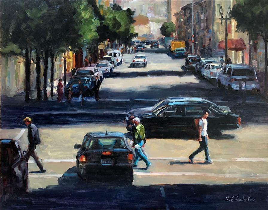 Original art for sale at UGallery.com | Crosswalk by Faye Vander Veer | $1,900 | oil painting | 16' h x 20' w | ..\art\oil-painting-Crosswalk