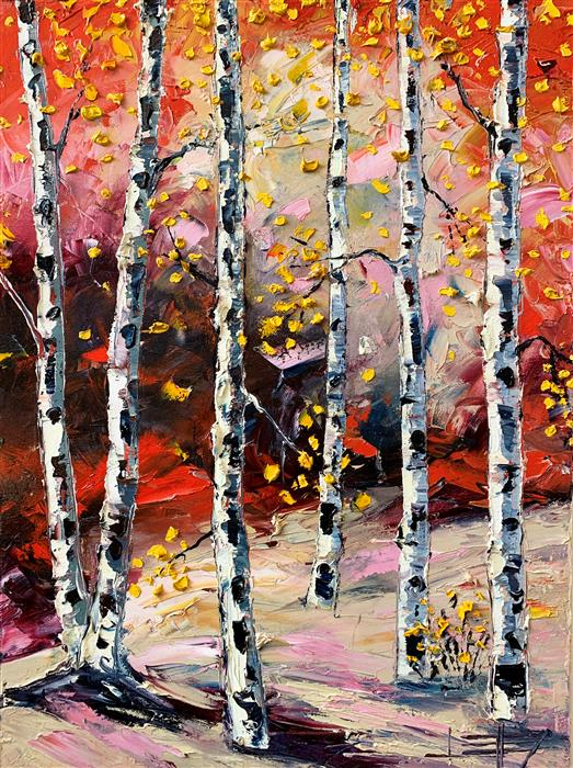 Original art for sale at UGallery.com | Feels Like Fall by Lisa Elley | $800 | oil painting | 24' h x 18' w | ..\art\oil-painting-Feels-Like-Fall
