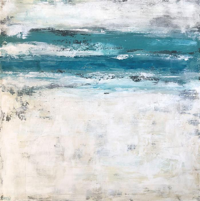 Original art for sale at UGallery.com | Blue Crush by Drew Noel Marin | $1,650 | acrylic painting | 24' h x 24' w | ..\art\acrylic-painting-Blue-Crush