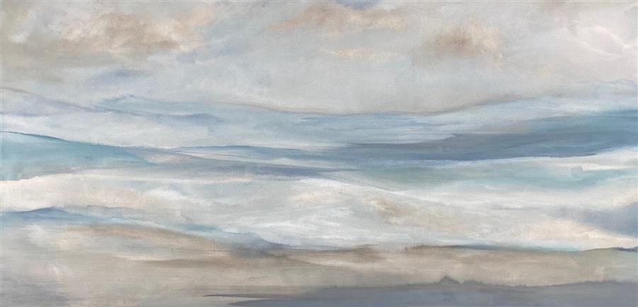 Original art for sale at UGallery.com | Changing Light by Alicia Dunn | $2,400 | acrylic painting | 24' h x 48' w | ..\art\acrylic-painting-Changing-Light-69281