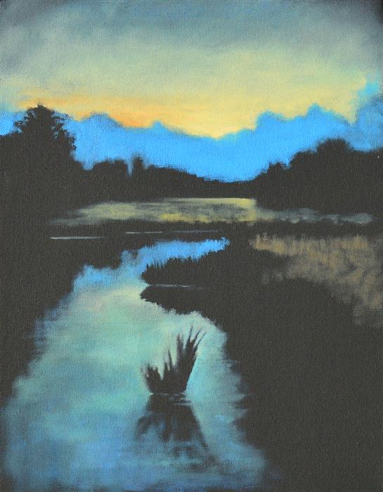 Original art for sale at UGallery.com | The Marsh by David Thelen | $425 | oil painting | 14' h x 11' w | ..\art\oil-painting-The-Marsh-69293