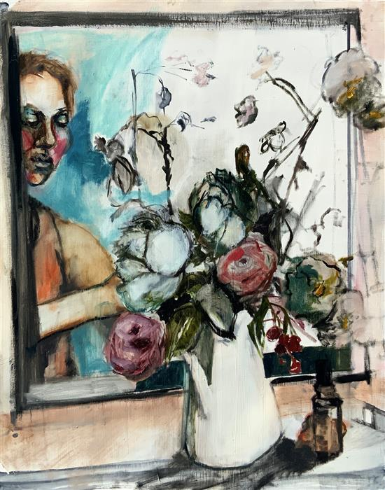 Original art for sale at UGallery.com | Bouquet at la Rongere by Liz Brozell | $750 | oil painting | 24' h x 19' w | ..\art\oil-painting-Bouquet-at-la-Rongere