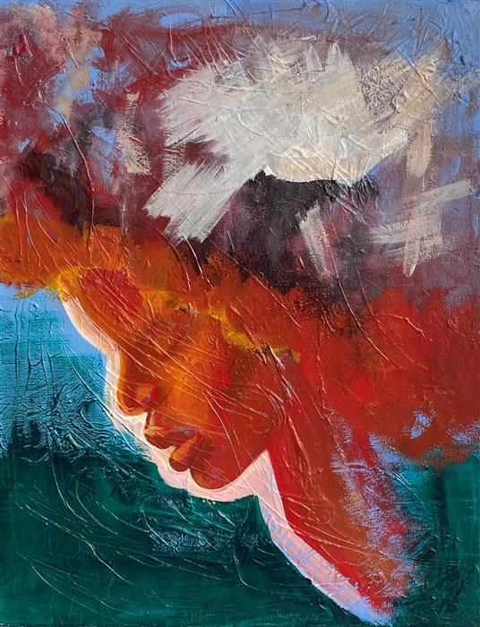 Original art for sale at UGallery.com | Empower by Asha Hanna | $550 | acrylic painting | 20.12' h x 15.87' w | ..\art\acrylic-painting-Empower