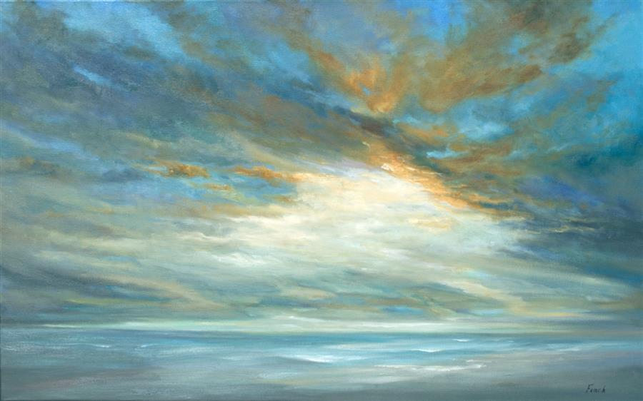 Original art for sale at UGallery.com | Coastal Light Song by Sheila Finch | $3,800 | oil painting | 30' h x 48' w | ..\art\oil-painting-Coastal-Light-Song