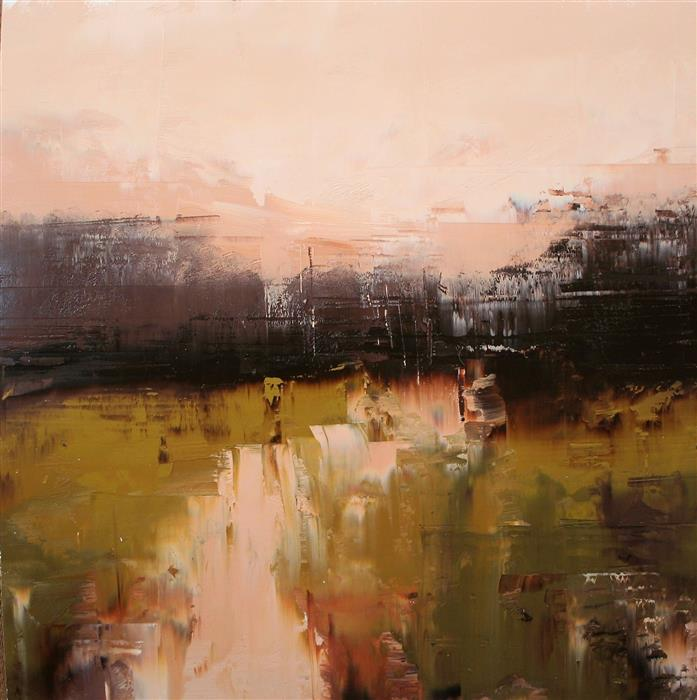 Original art for sale at UGallery.com | Warm Tones on Flatcreek by Ronda Waiksnis | $675 | oil painting | 19.75' h x 19.25' w | ..\art\oil-painting-Warm-Tones-on-Flatcreek