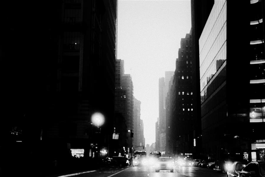Original art for sale at UGallery.com | Sixth Avenue, Dusk by Adam Garelick | $25 | photography | 15' h x 10' w | ..\art\photography-Sixth-Avenue-Dusk