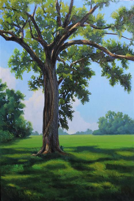 Original art for sale at UGallery.com | Oak at the Indian Lands by Andres Lopez | $1,675 | oil painting | 36' h x 24' w | ..\art\oil-painting-Oak-at-the-Indian-Lands