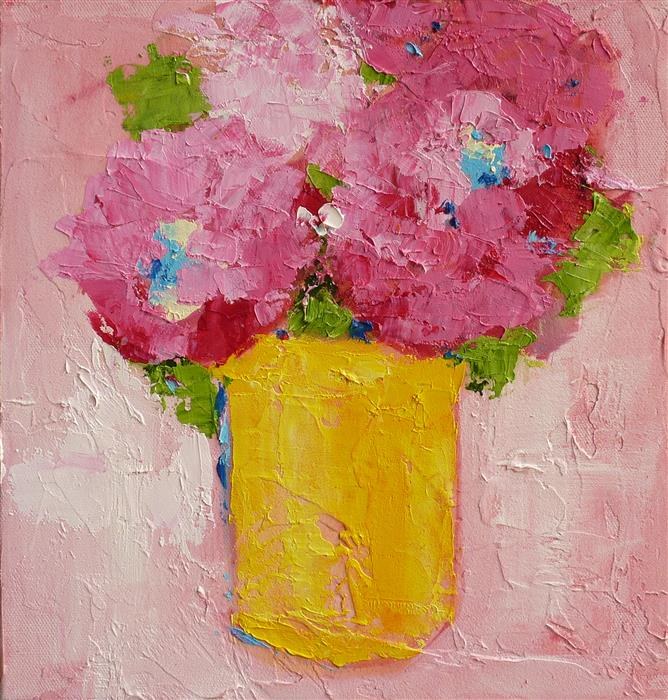 Original art for sale at UGallery.com | Pinky by Judy Mackey | $575 | oil painting | 12' h x 12' w | ..\art\oil-painting-Pinky