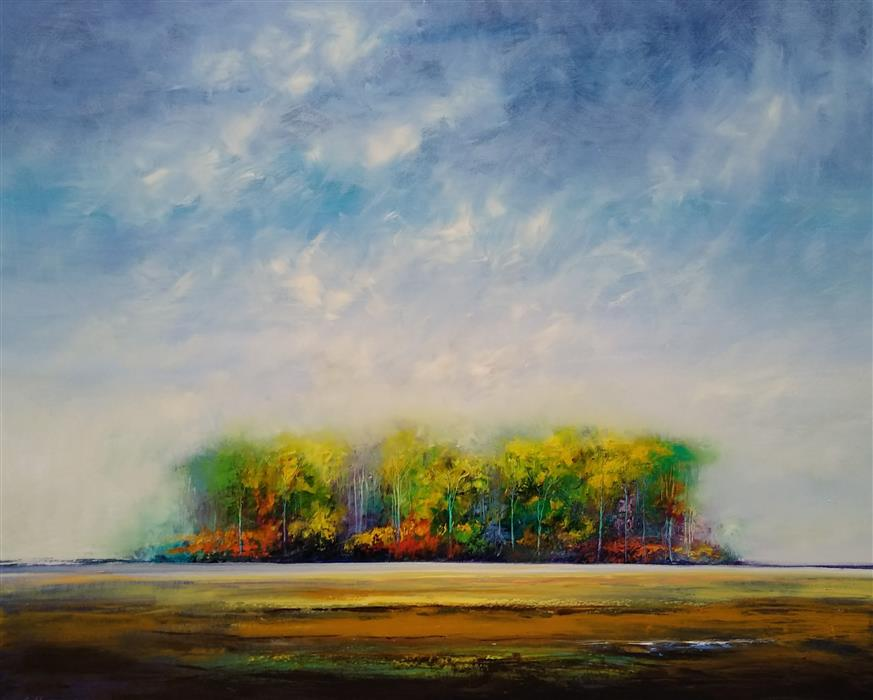 Original art for sale at UGallery.com | North Country by George Peebles | $7,200 | oil painting | 48' h x 60' w | ..\art\oil-painting-North-Country